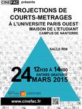 Projection CINE FAC de court-métrage à l'Univerité Paris Ouest Nanterre
