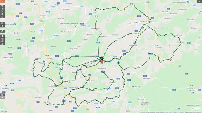 Vélo Club Rochefort - Sortie du dimanche 22 mars 2020 - Gr. 2
