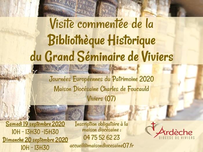 Journées du patrimoine 2020 - Visite commentée de la bibliothèque historique du Grand Séminaire de Viviers (07)