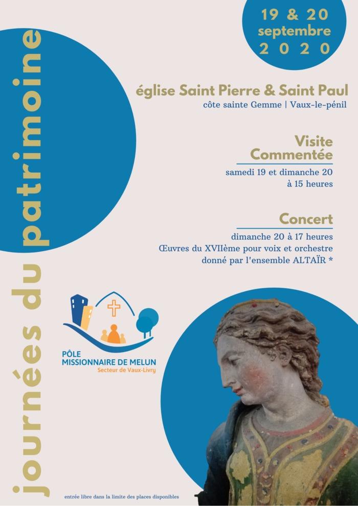 Journées du patrimoine 2020 - Visite commentée de l'église Saint-Pierre & Saint-Paul