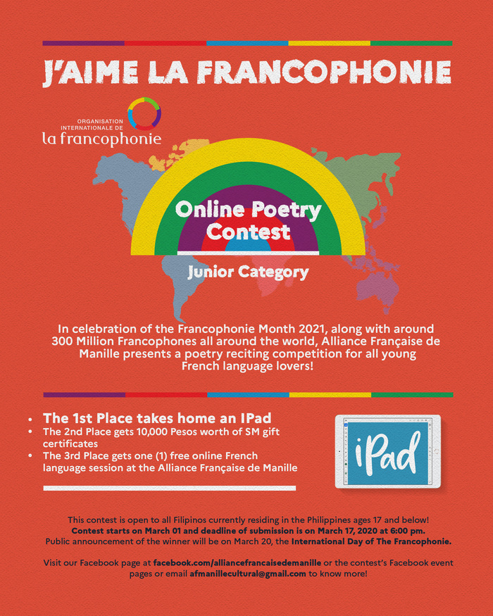 Les participants sont appelés à choisir leur comptine francophone préférée et à la réciter, la clamer, le slamer, la chanter!