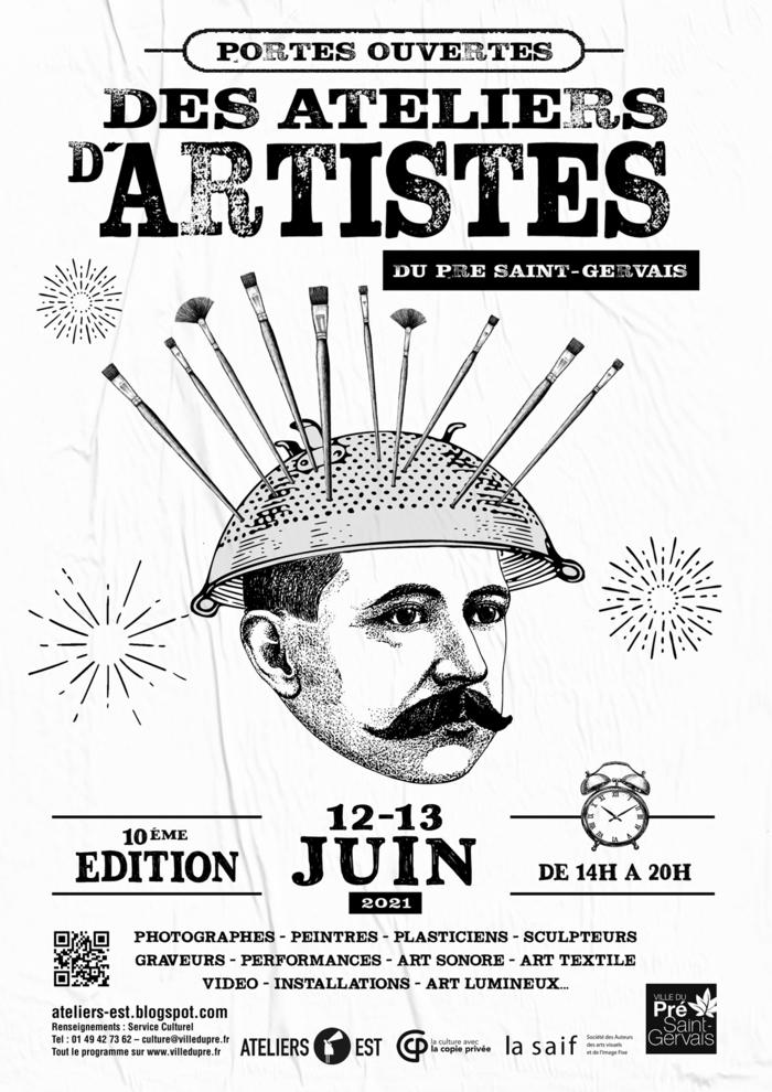 Les Portes Ouvertes des Ateliers d'Artistes du Pré Saint-Gervais fêtent leur 10e édition!