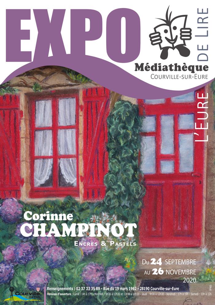 Courville : Exposition artistique de Corinne Champinot
