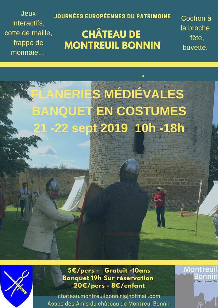 Journées du patrimoine 2019 - Flâneries et Banquet médiévales au château