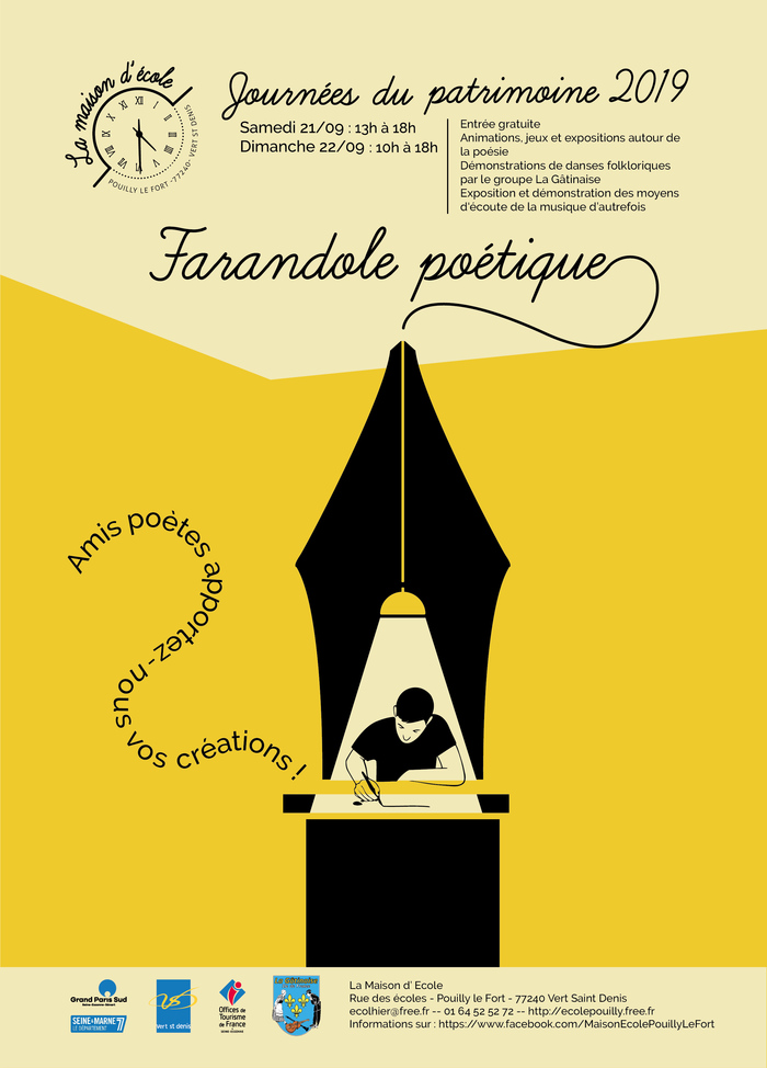 Journées du patrimoine 2019 - Farandole poétique à la Maison d'Ecole