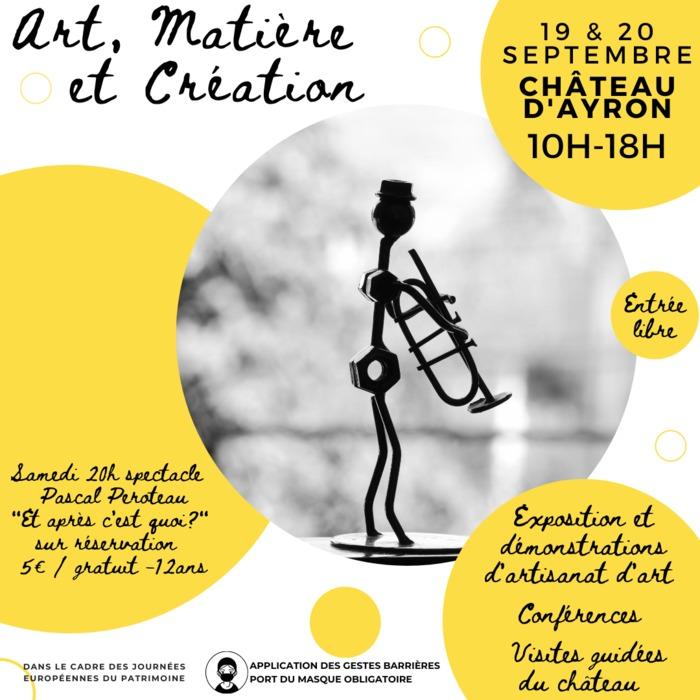 Journées du patrimoine 2020 - Rencontres Art, Matière et Création