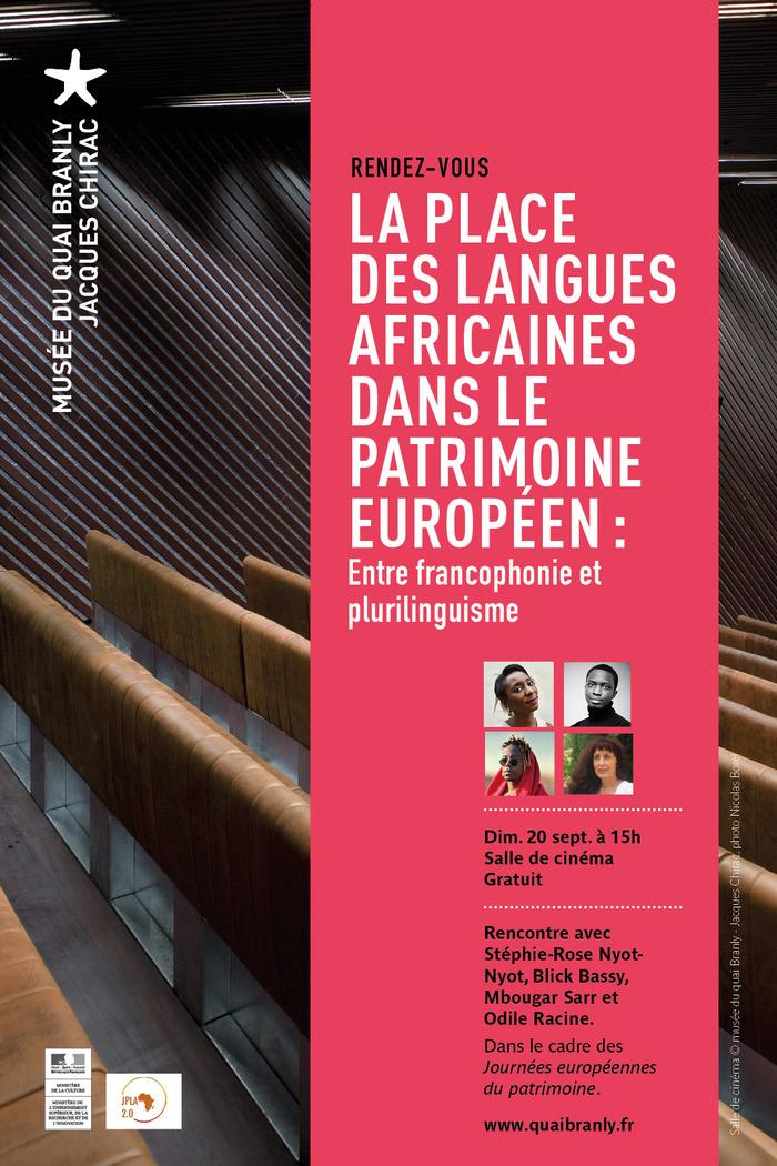 Journées du patrimoine 2020 - La place des langues africaines dans le patrimoine européen : entre francophonie et plurilinguisme