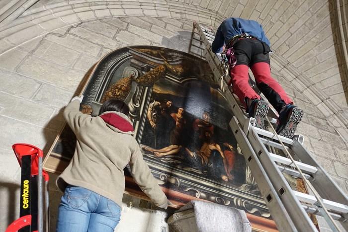 Journées du patrimoine 2019 - Découverte de la restauration de 4 toiles conservées dans la sacristie
