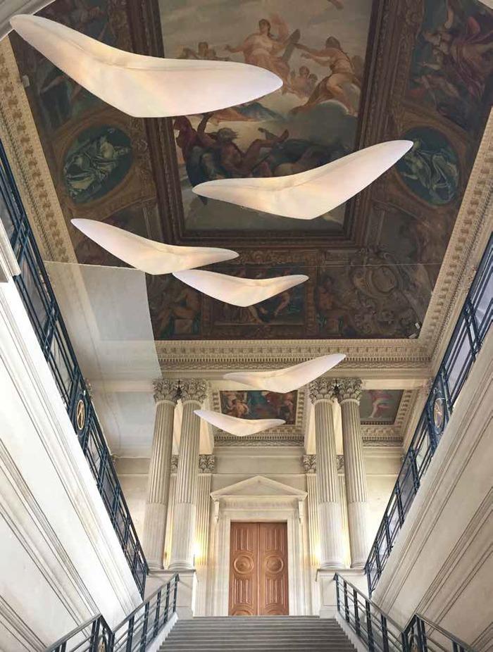 Journées du patrimoine 2019 - Paris Design Week aux Archives nationales: Installation lumineuse de Céline Wright avec Grok