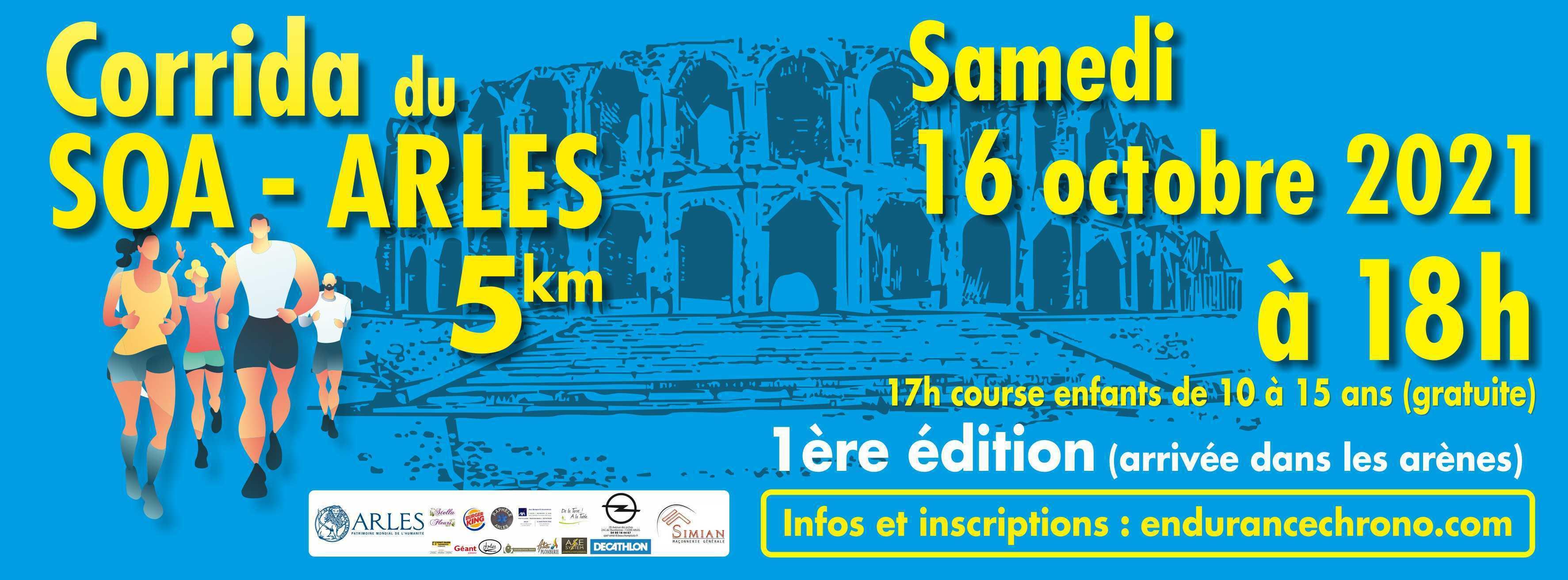 Le SOA organise sa première corrida pédestre, une course de 5 kilomètres.