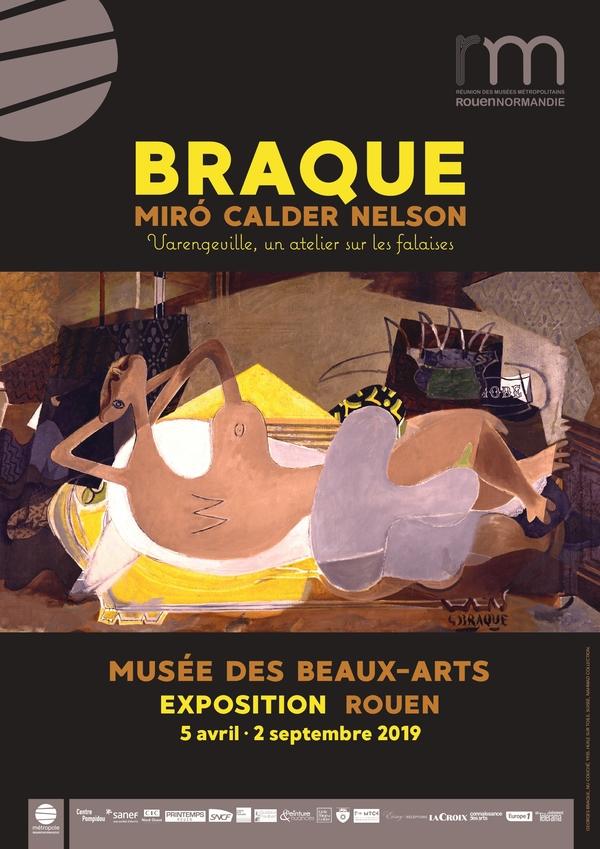 Nuit des musées 2019 -Exposition : Braque, Miro, Calder, Nelson - Varengeville, un atelier sur les falaises