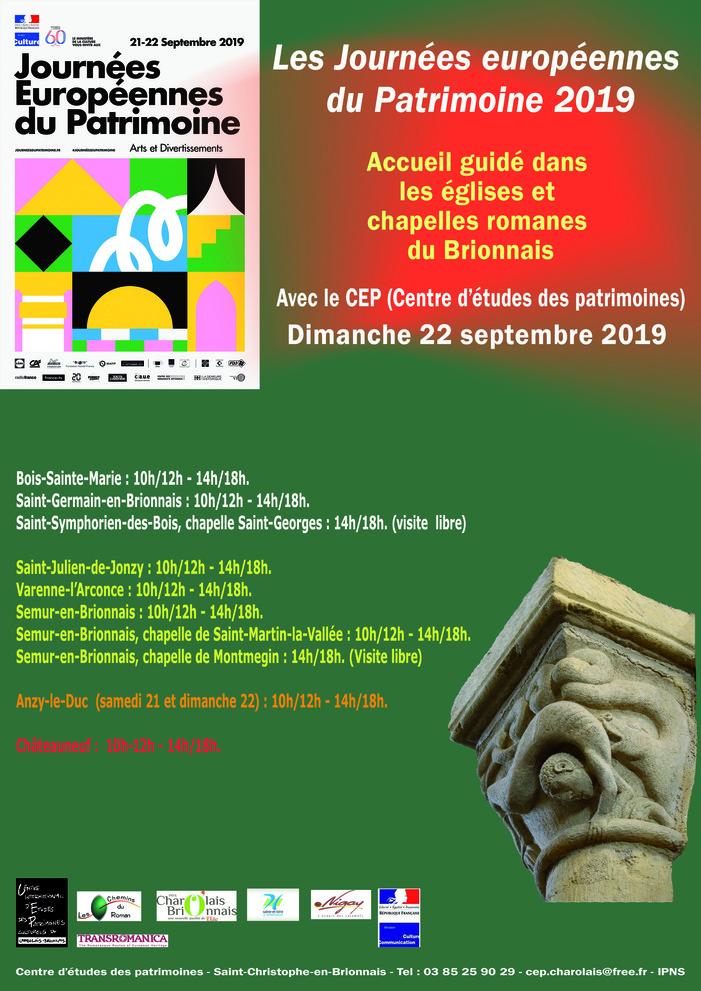 Journées du patrimoine 2019 - Visite de l'église romane d'Anzy-le-Duc