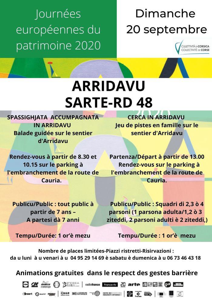 Journées du patrimoine 2020 - Annulé | BALADE GUIDEE SUR LE SENTIER D'ARRIDAVU (Sartène)