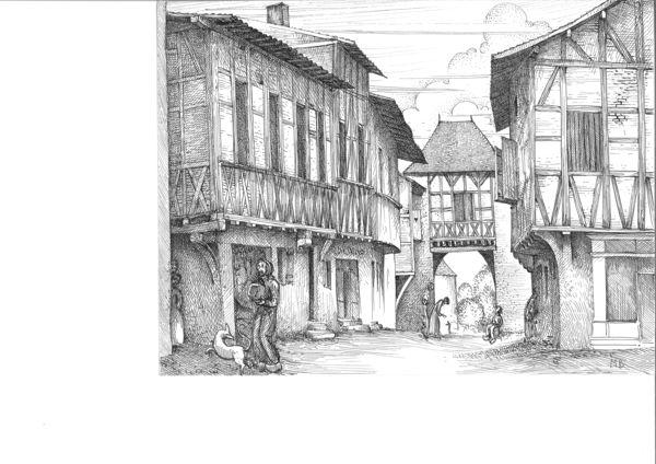 Nuit des musées 2019 -Les trésors de l'architecture bressane, dessin de Michel Bouillot