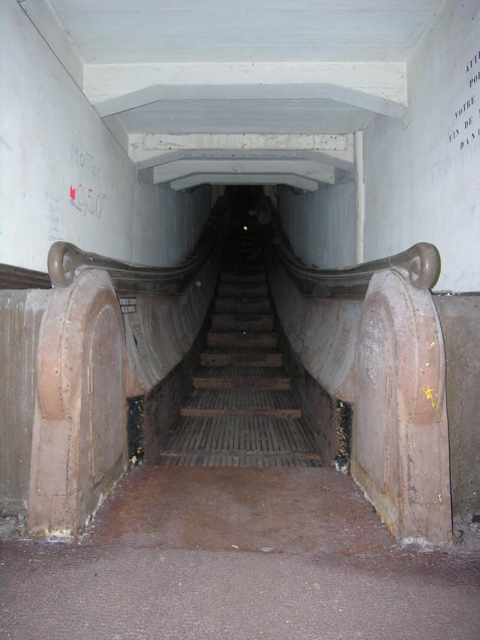 Journées du patrimoine 2019 - Découverte de la gare basse de l'escalier mécanique Montmorency.