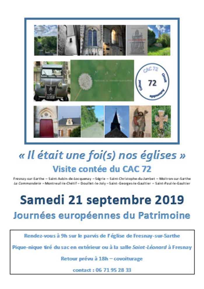 Journées du patrimoine 2019 - Le CAC 72...épisode 1: