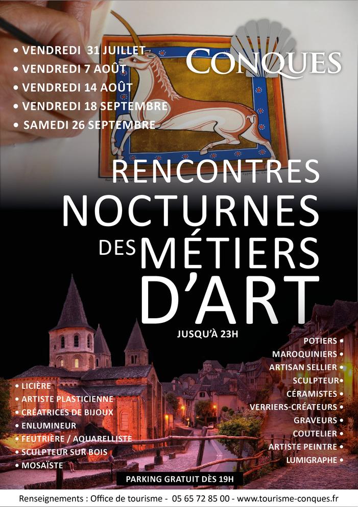 Journées du patrimoine 2020 - Rencontres nocturnes des métiers d'art