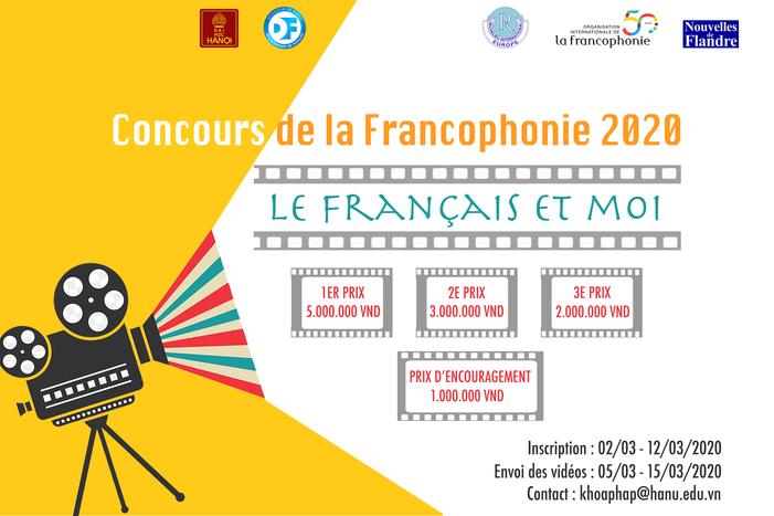 #Concours vidéo#20 mars2020#Université de Hanoi#Le français et moi#