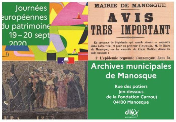 Journées du patrimoine 2020 - Visite commentée des Archives municipales