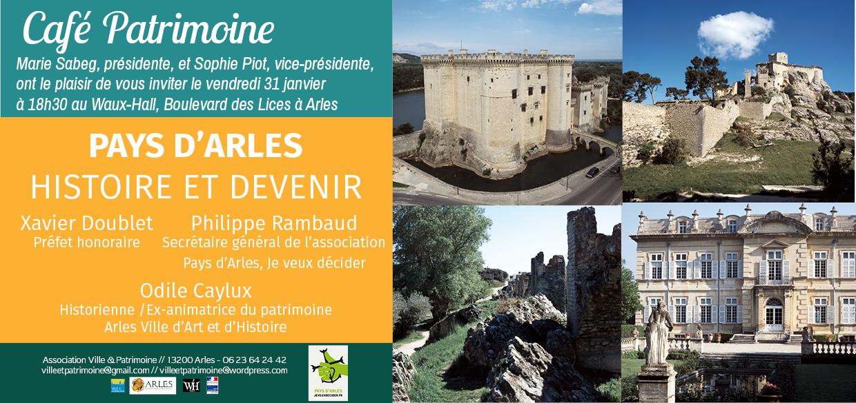 Café Patrimoine Pays d'Arles Histoire et Devenir