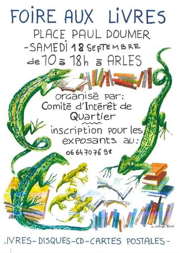 Foire aux livres d'occasion organisée par le CIQ de la Roquette