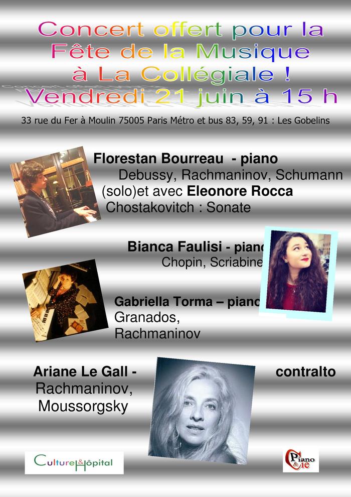 Fête de la musique 2019 - Concerts de piano
