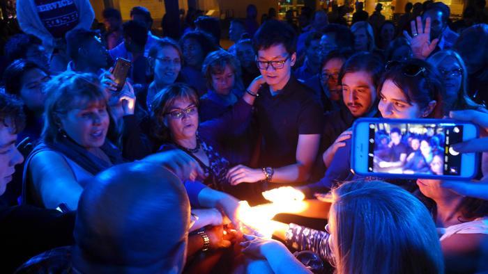 Journées du patrimoine 2019 - Scenocosme, œuvre interactive sonore et lumineuse