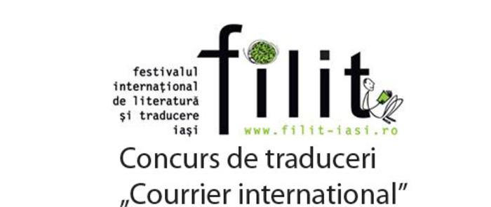 Le concours de traduction « Courrier international », destiné aux élèves et aux étudiants, présuppose la traduction d'un texte de presse du roumain vers le français.