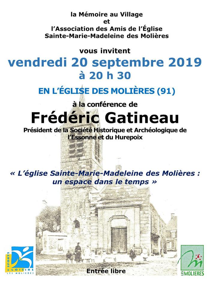 Journées du patrimoine 2019 - L'église Sainte-Marie-Madeleine des Molières : un espace dans le temps