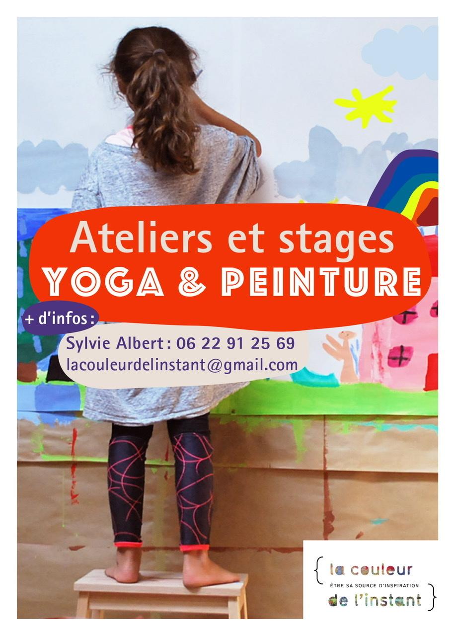 Atelier pour les enfants : yoga ludique et expression libre en peinture