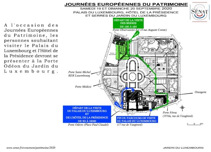 Journées du patrimoine 2020 - Visite du Palais du Luxembourg et du Petit Luxembourg