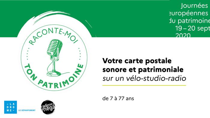 Journées du patrimoine 2020 - Votre carte postale sonore sur un studio-vélo-radio à La Chapelle des Cordeliers