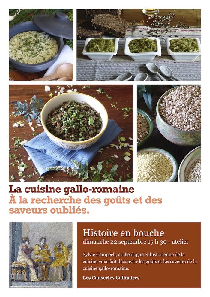 Journées du patrimoine 2019 - Atelier des saveurs de l'antiquité