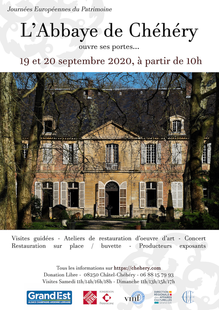Journées du patrimoine 2020 - Venez visiter l'abbaye de Chéhéry !