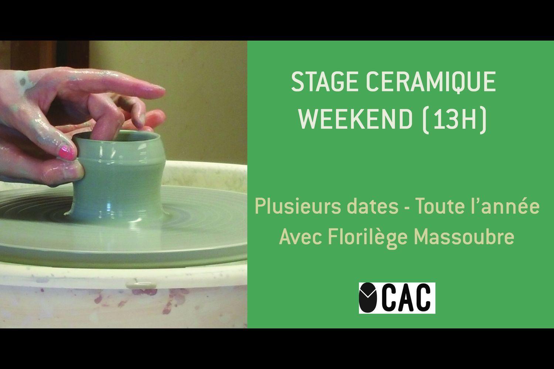 Annulé | Stage céramique en weekend