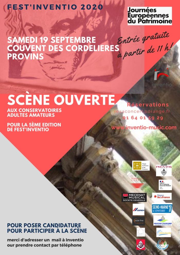 Journées du patrimoine 2020 - Fest'Inventio 2020, édition consacrée à Beethoven. Scène ouverte aux conservatoires adultes amateurs