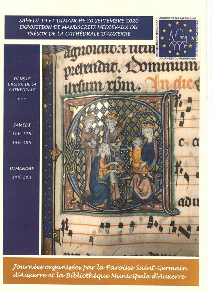 Journées du patrimoine 2020 - Annulé | Exposition de manuscrits médiévaux