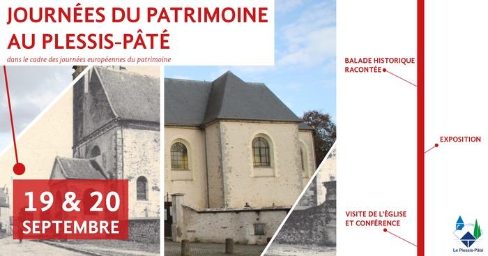 Journées du patrimoine 2020 - Visite de l'église et conférence