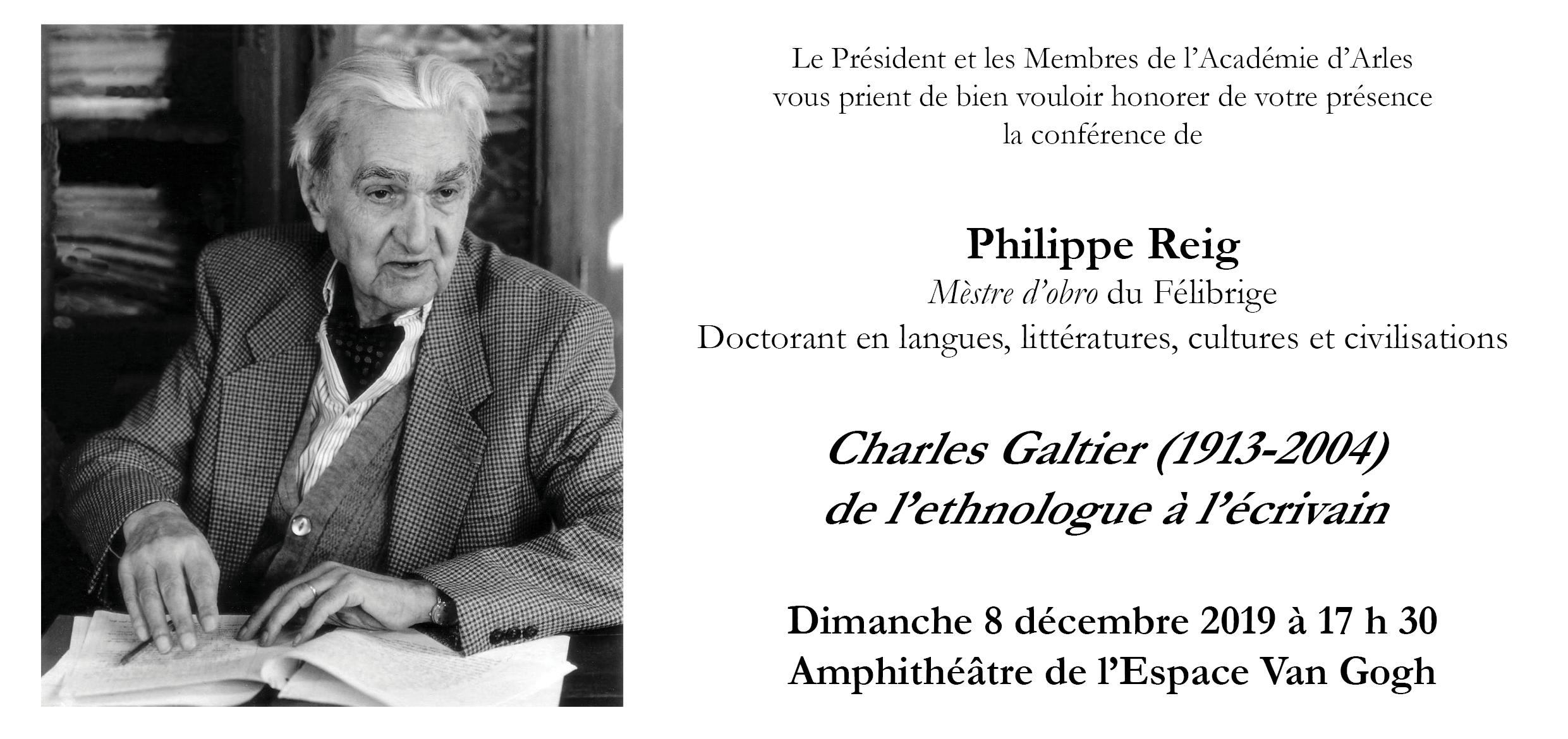 Conférence par Philippe Reig