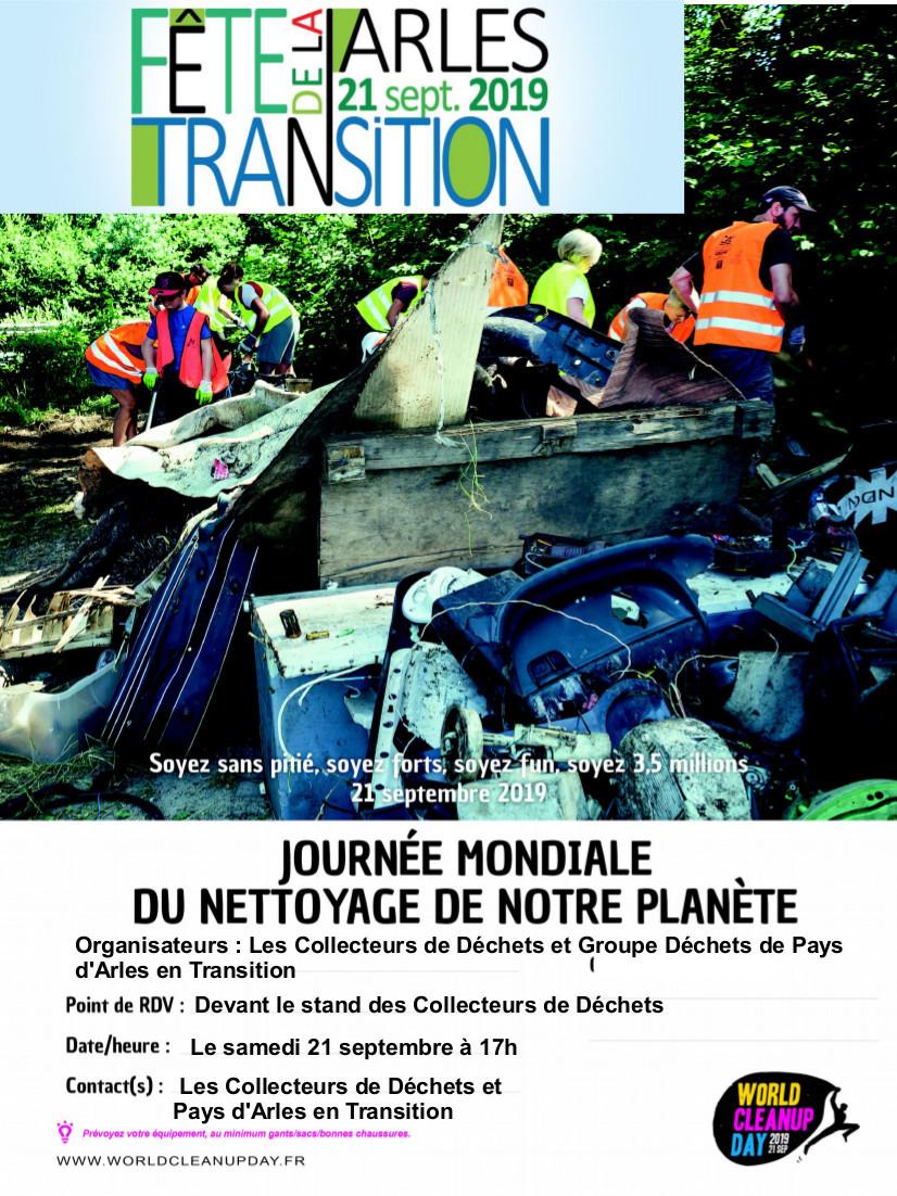 """Opération de Nettoyage qui débutera à partir de 17H le samedi 21 septembre devant le stand """"Les Collecteurs de Déchets"""""""
