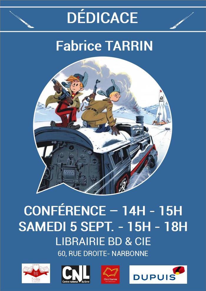 Dédicace de Fabrice TARRIN pour Spirou chez les Soviets aux éditions Dupuis.