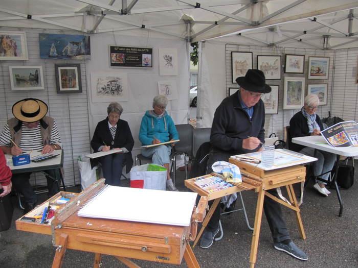 Journées du patrimoine 2020 - Démonstration par les peintres des amis des Arts