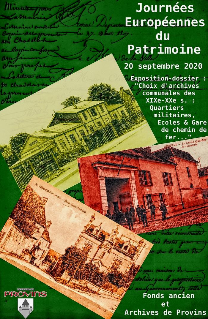 Journées du patrimoine 2020 - Exposition-dossier commentée par les agents du Service des Archives :