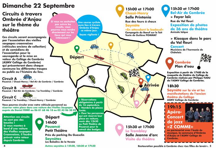 Journées du patrimoine 2019 - circuit autour des petits théatres d'Ombrée d'Anjou