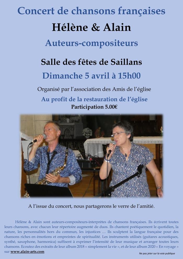 Concert de chansons françaises au profit de la restauration de l'église