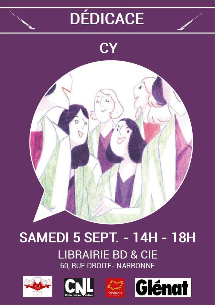 Dédicace de CY pour Radium Girls aux éditions Glénat