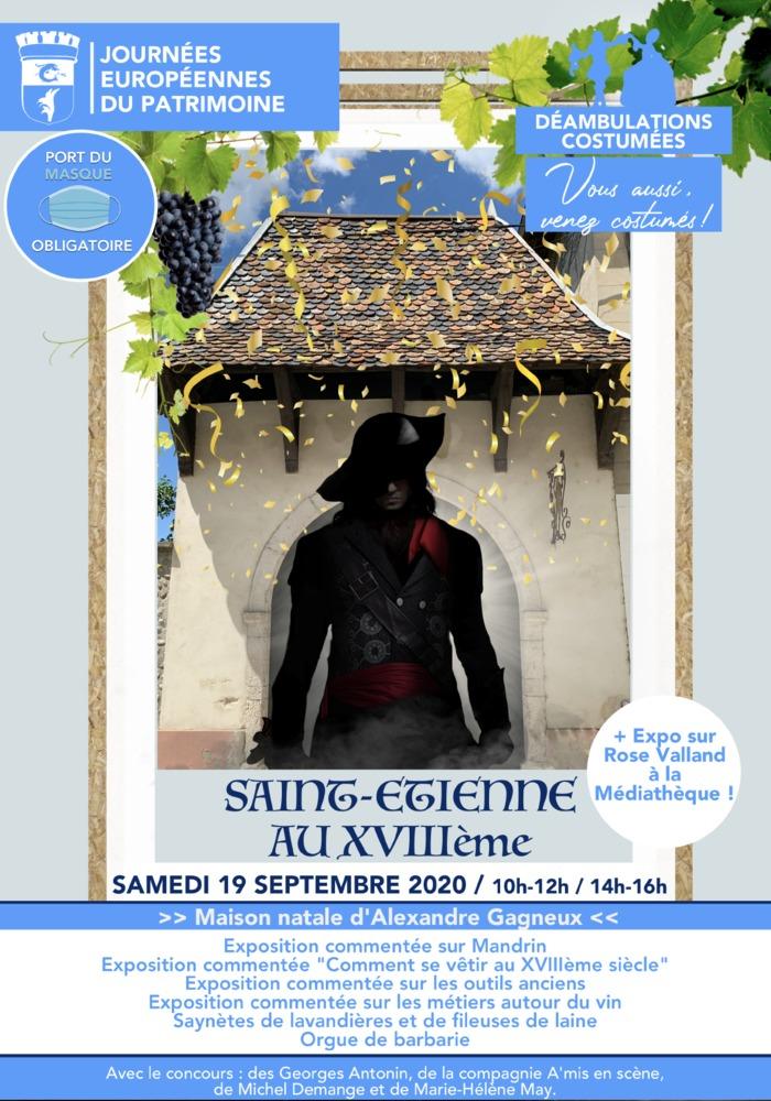 Journées du patrimoine 2020 - Saint-Etienne au XVIIIème