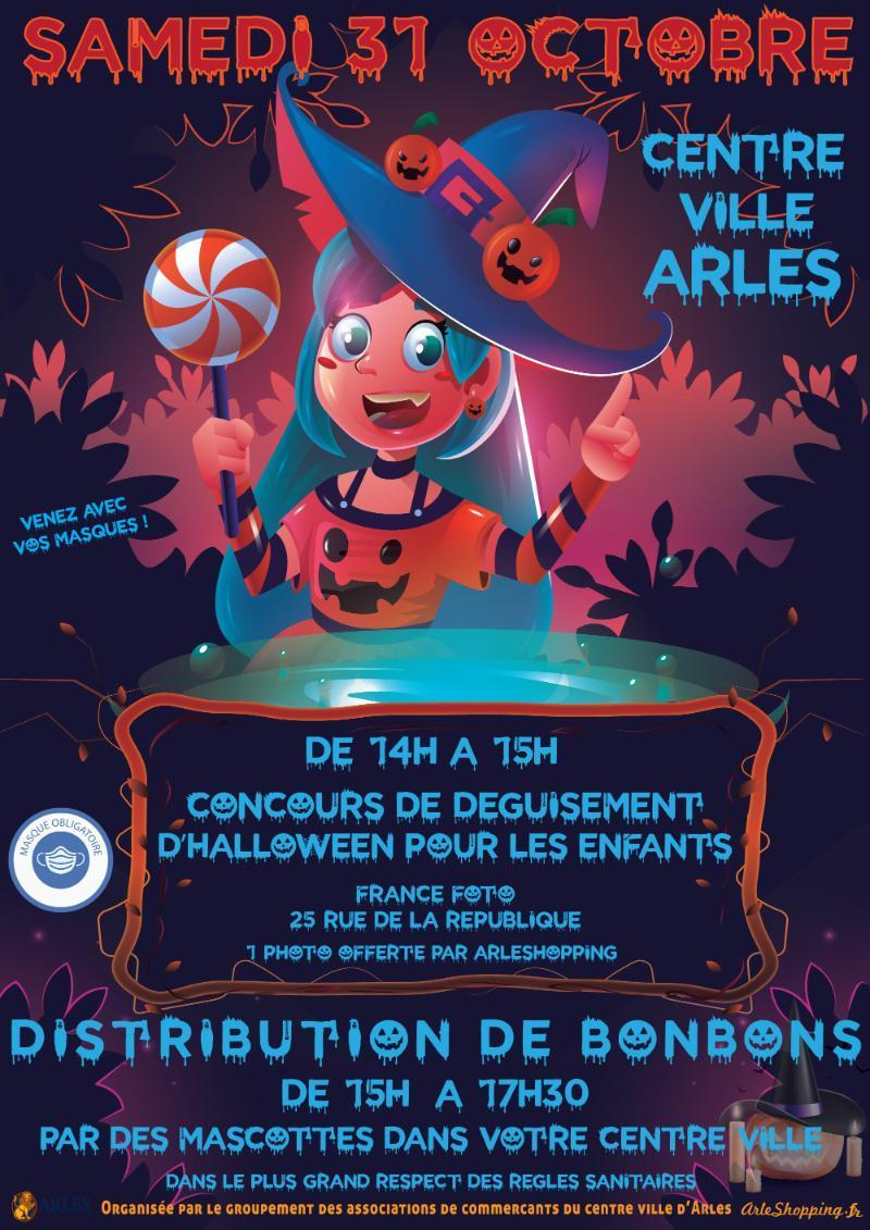 Les enfants fêtent Halloween avec Arles Shopping.
