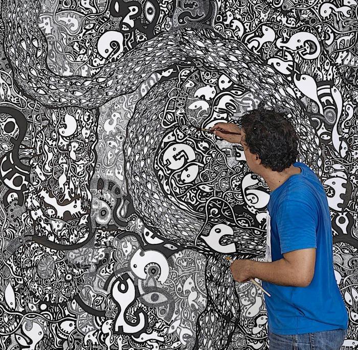 Journées du patrimoine 2019 - FdF / Les Archives / Création d'une œuvre artistique collective avec Ricardo Ozier-Lafontaine / atelier