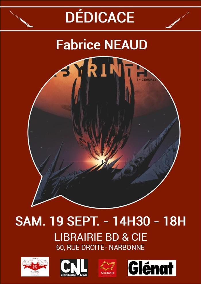 Dédicace de Fabrice NEAUD pour Labyrinthus T.1 aux éditions Glénat.